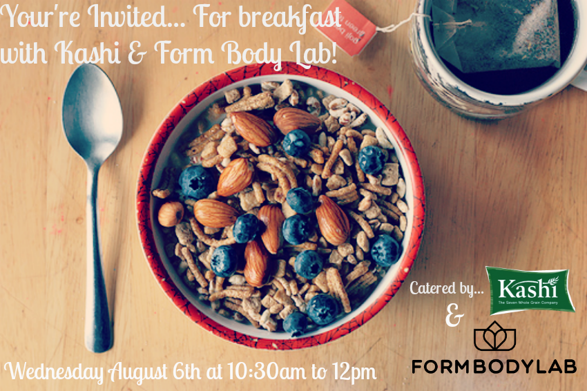 Breakfast with Kashi at Form Body Lab